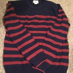 JosABank striped sweater large red/navy